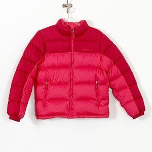 MARMOT Guide Down Red Sweater Puffer Coat 650 Fill